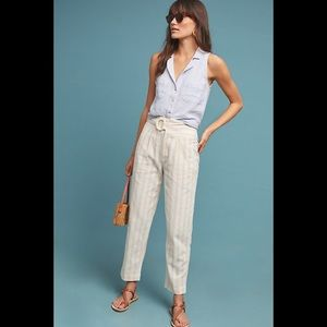 Anthropologie Oasis Striped Pants